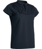 Abacus Sportswear Black Lisa Cup Sleeve Polo
