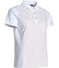 Abacus Sportswear White Floral Lisa Polo