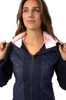 Golftini Navy Hooded Windbreaker Jacket