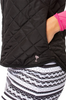 Golftini Black / White Reversible Wind Vest
