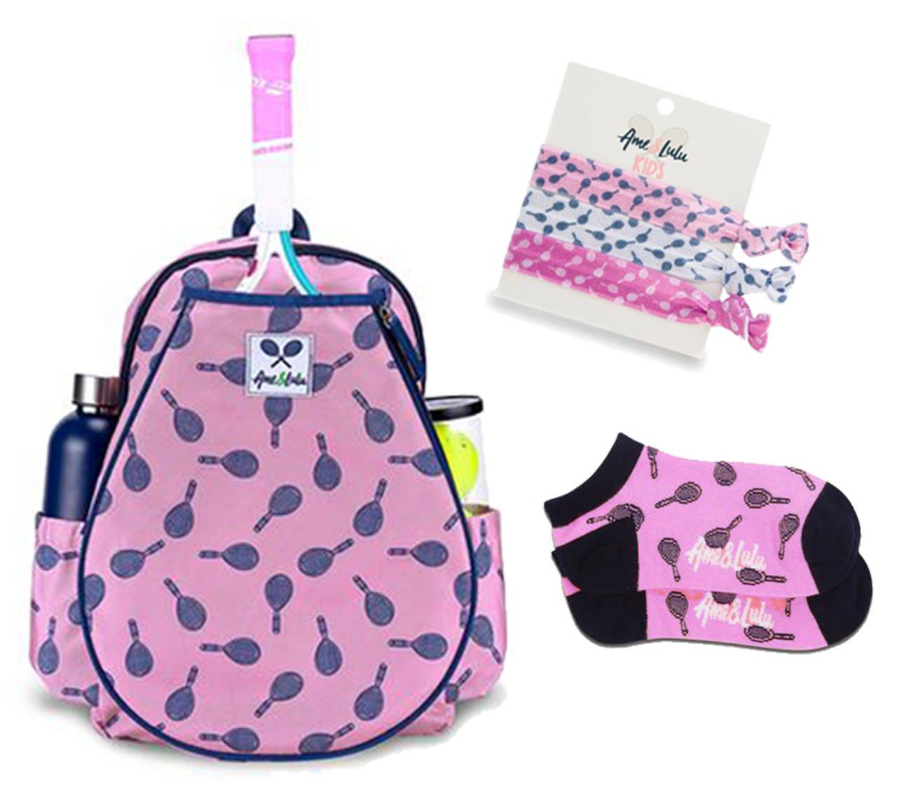 Ame & Lulu Little Love Tennis Backpack - Mini Racquets Set