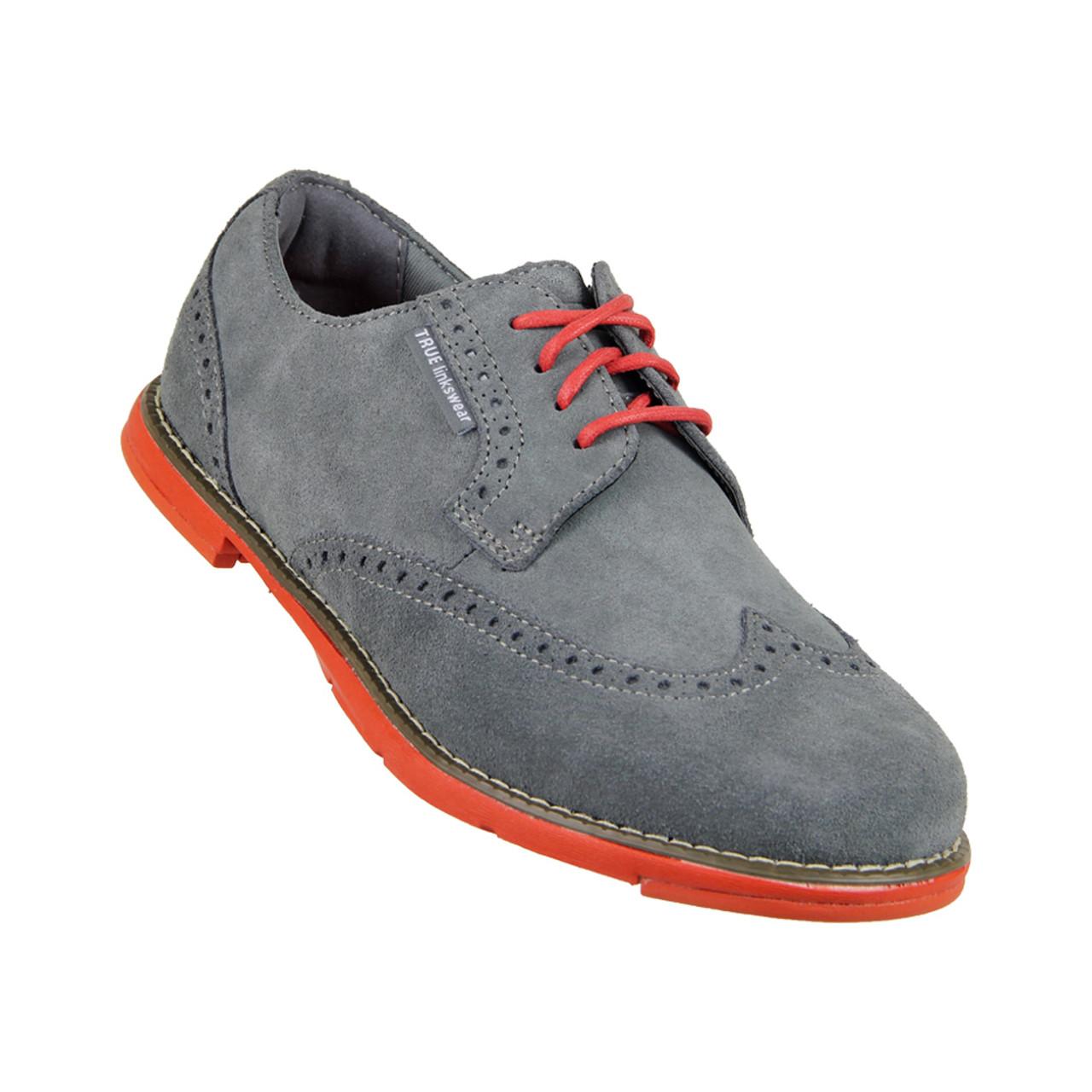 True Linkswear Dame Women s Golf Shoes - Charcoal   Salmon 988f24e68