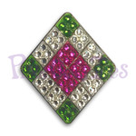 Argyle - Bonjoc Swarovski Crystal Golf Ball Marker Accessory with magnetic hat clip.  Handcrafted with 100% genuine Swarovski crystal.  Perfect for corporate gifts or tee prizes. Comes with carrying pouch.