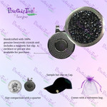 Bonjoc Swarovski Crystal Magnetic hat clip for easy access to the ball marker.
