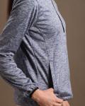 Glen Echo Grey Ladies Stretch Tech Meringue Pullover