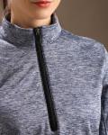 Glen Echo Blue Ladies Stretch Tech Meringue Pullover
