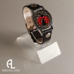Ladybug Ball Marker Bracelet with Black Band