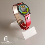 Butterfly Ball Marker Bracelet with Red Band