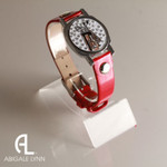 Golf Bag Ball Marker Bracelet with Red Band