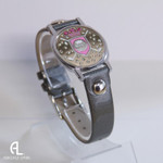 Pink Shield Ball Marker Bracelet with Grey Band