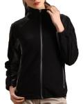 Glen Echo Ladies Black Sueded Fleece Jacket with Stretch Tech Panels