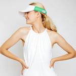 Ame & Lulu Head in the Game Tennis Visor - Green