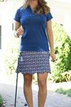 Birdies & Bows Half Zip Hitter Navy Ladies Golf Polo