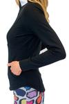 Golftini Black Contrast Quarter Zip Pullover