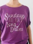 Bump & Run Purple Long Drives Circle Top