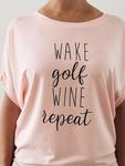 Bump & Run Blush Golf Repeat Circle Top