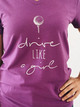 Bump & Run Drive Like a Girl Purple Tee
