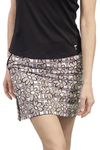 Golftini Khaki & White Performance Stretch Skort | First Class | Available in 2 Lengths