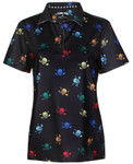 Tattoo Golf Ladies Lucky 13 Cool-Stretch Golf Shirt (Multicolor)