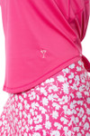 Golftini Hot Pink Sleeveless Sport Stretch Tie Top