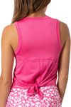 Golftini Sleeveless Sport Stretch Tie Top - Hot Pink