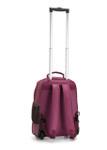 "Taboo Fashions Dark Purple Rolling 15"" Solid Backpack"