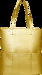 SportsChic Women's Vegan Tote Bag - Metallic Gold