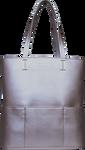 SportsChic Women's Vegan Tote Bag - Metallic Silver