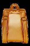 SportsChic Women's Vegan Mini Backpack - Metallic Bronze