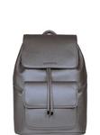 SportsChic Women's Vegan Midi Backpack - Metallic Pewter