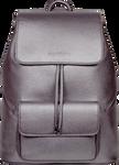 SportsChic Women's Vegan Maxi Backpack Metallic Pewter