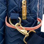 cinda b Multipurpose Duffel Deep Zipper Pocket on Outside Front