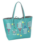 Sydney Love Tennis themed Reversible Tote-Turquoise