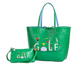 Sydney Love G-O-L-F Reversible Tote with Inner Pouch