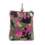 Sydney Love Olive Camouflage Clip On Accessory Pouch Can be attached to larger bag.