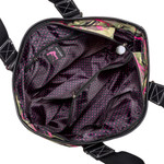 Top zip entry with golf ball zipper pull. Interior fully lined with signature Sydney Love polka dot fabric.