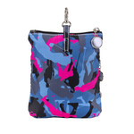 Sydney Love Blue Camouflage Clip On Accessory Pouch can be hang on big bags