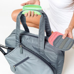 Ame & Lulu Sweet Shot Tennis Tote 3.0 in Charcoal comes with 3 nylon caps