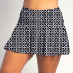 FestaSports Criss Cross all over print Flounce Skort  is fabulous for all activewear and running around town getting things done. The specialized FestaFit makes this skort a must have for function and comfort. Inner shorts have lower leg band to store balls during fierce tennis matches.