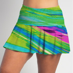 FestaSports Candy Crush Flounce Skort  is fabulous for all activewear and running around town getting things done. The specialized FestaFit makes this skort a must have for function and comfort. Inner shorts have lower leg band to store balls during fierce tennis matches.