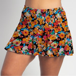 FestaSports Poppy Power all over print Flounce Skort  is fabulous for all activewear and running around town getting things done. The specialized FestaFit makes this skort a must have for function and comfort. Inner shorts have lower leg band to store balls during fierce tennis matches.