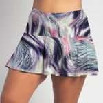 FestaSports Wispy Waves all over print Flounce Skort  is fabulous for all activewear and running around town getting things done. The specialized FestaFit makes this skort a must have for function and comfort. Inner shorts have lower leg band to store balls during fierce tennis matches.