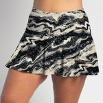 FestaSports RockStar all over print Flounce Skort  is fabulous for all activewear and running around town getting things done. The specialized FestaFit makes this skort a must have for function and comfort. Inner shorts have lower leg band to store balls during fierce tennis matches.
