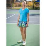 FestaSports  Turquoise Shorts Sleeve V-neck Tee
