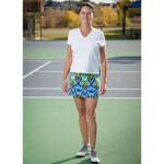FestaSports White Shorts Sleeve V-neck Tee