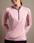 Glen Echo Pink Ladies Half Zip Pullover