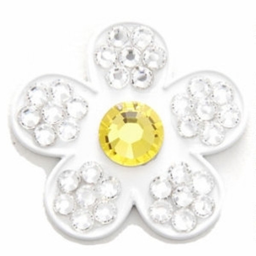 Bonjoc Lilly Flower Swarovski Crystal Ball Marker