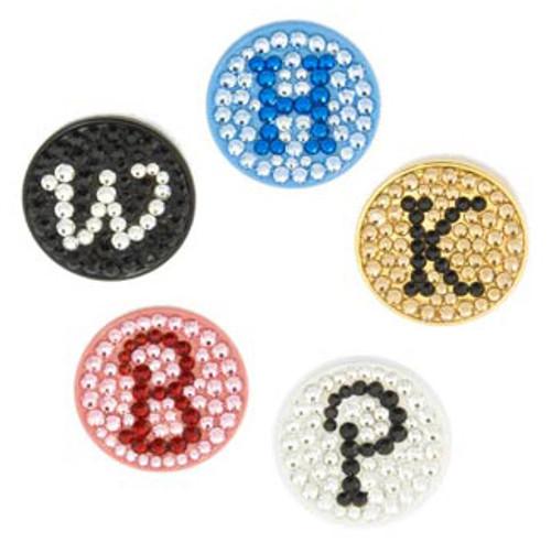 Monogram Crystal Golf Ball Markers