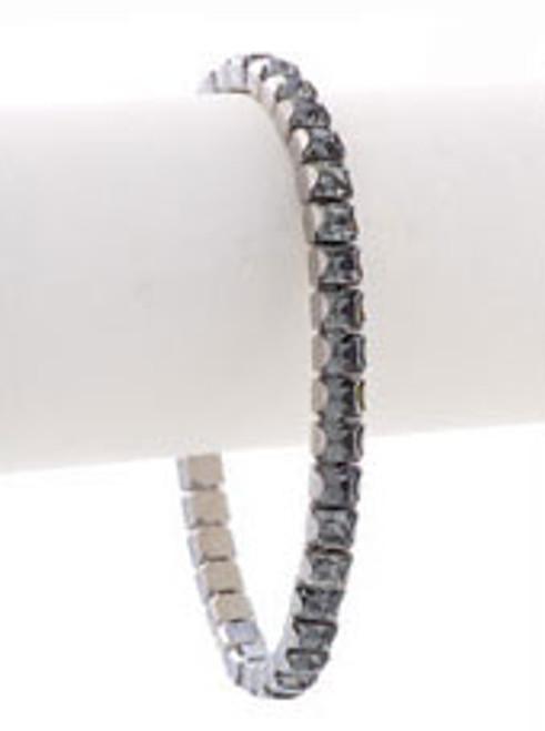 Bonjoc Black Diamond Swarovski Crystal Stretch Golf Bracelet