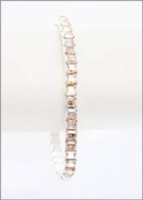 Bonjoc Golden Shadow Swarovski Crystal Stretch Golf Bracelet